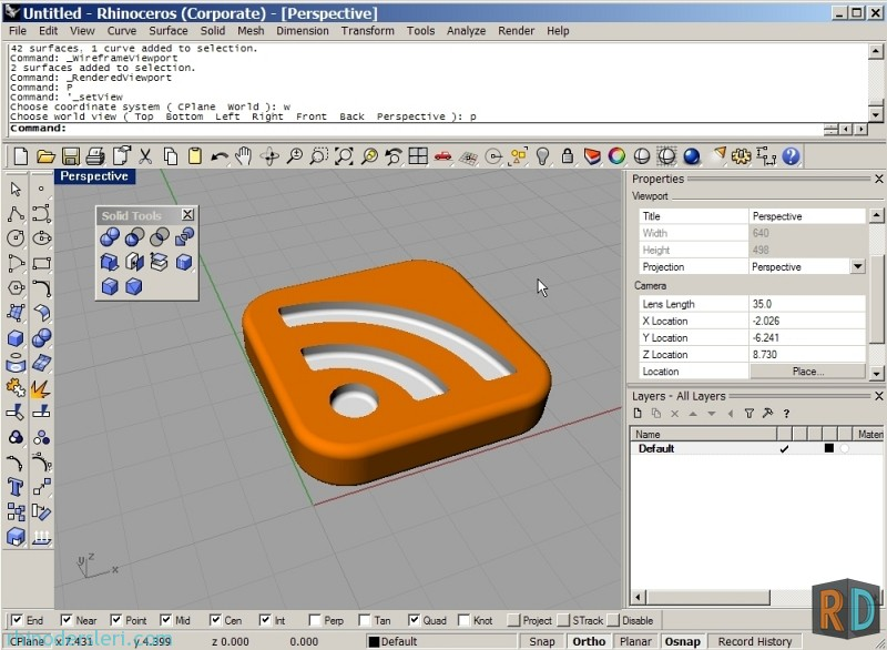 modeling rss icon