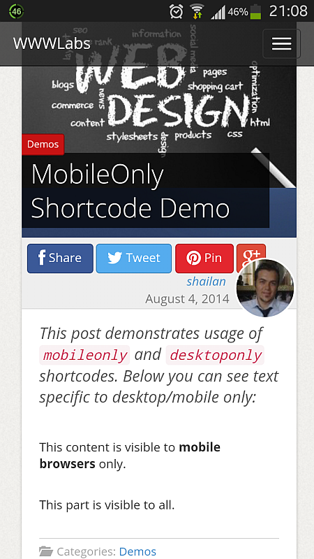 mobile-shortcode-mobile-view