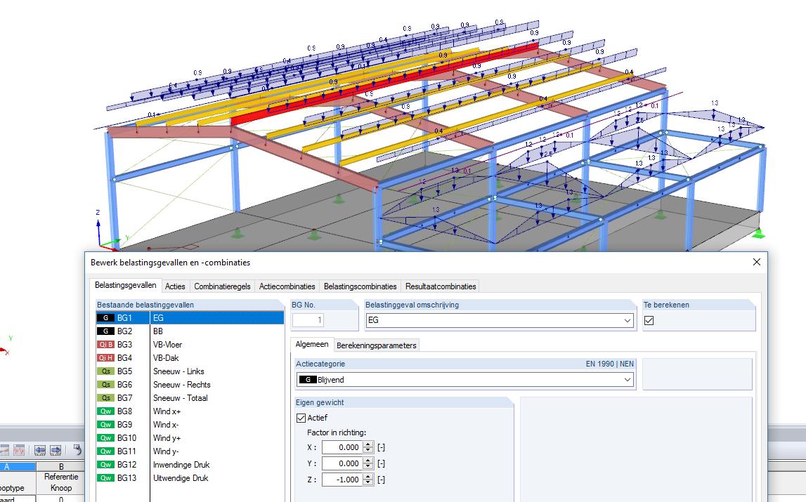 Automatische combinaties maken in RFEM volgens Eurocode 0