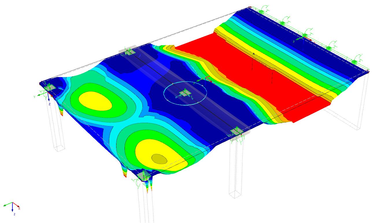 Wapening in een betonvloer bepalen in de rekensoftware RFEM