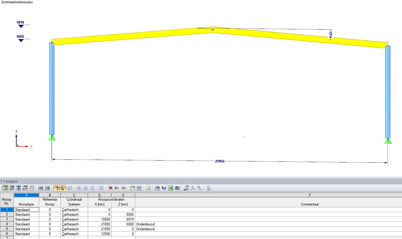Exporteren van modelgegevens van RFEM naar excel
