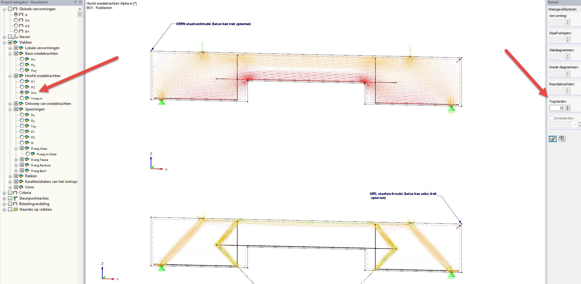 Staafwerkmodellen in betonwanden / Vakwerkanalogie