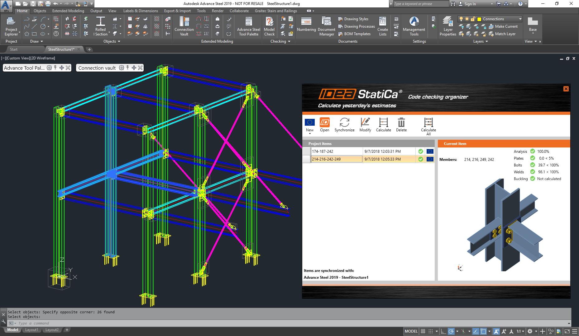BIM links met IDEA Connection versie 9.1 update vanuit CAD
