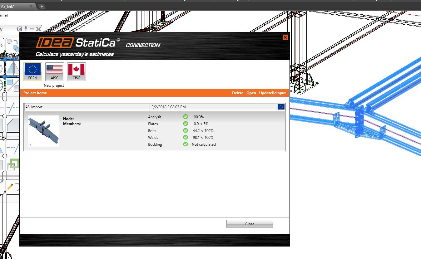 CAD koppeling BIM naar Tekla met IDEA Connection