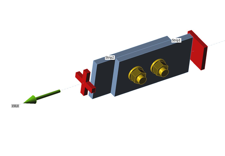 Enkelvoudige strip verbinding met excentriciteit in IDEA Connection