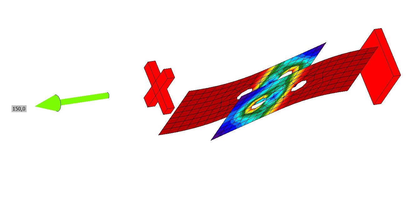 Enkelvoudige strip verbinding met excentriciteit resultaten in IDEA Connection