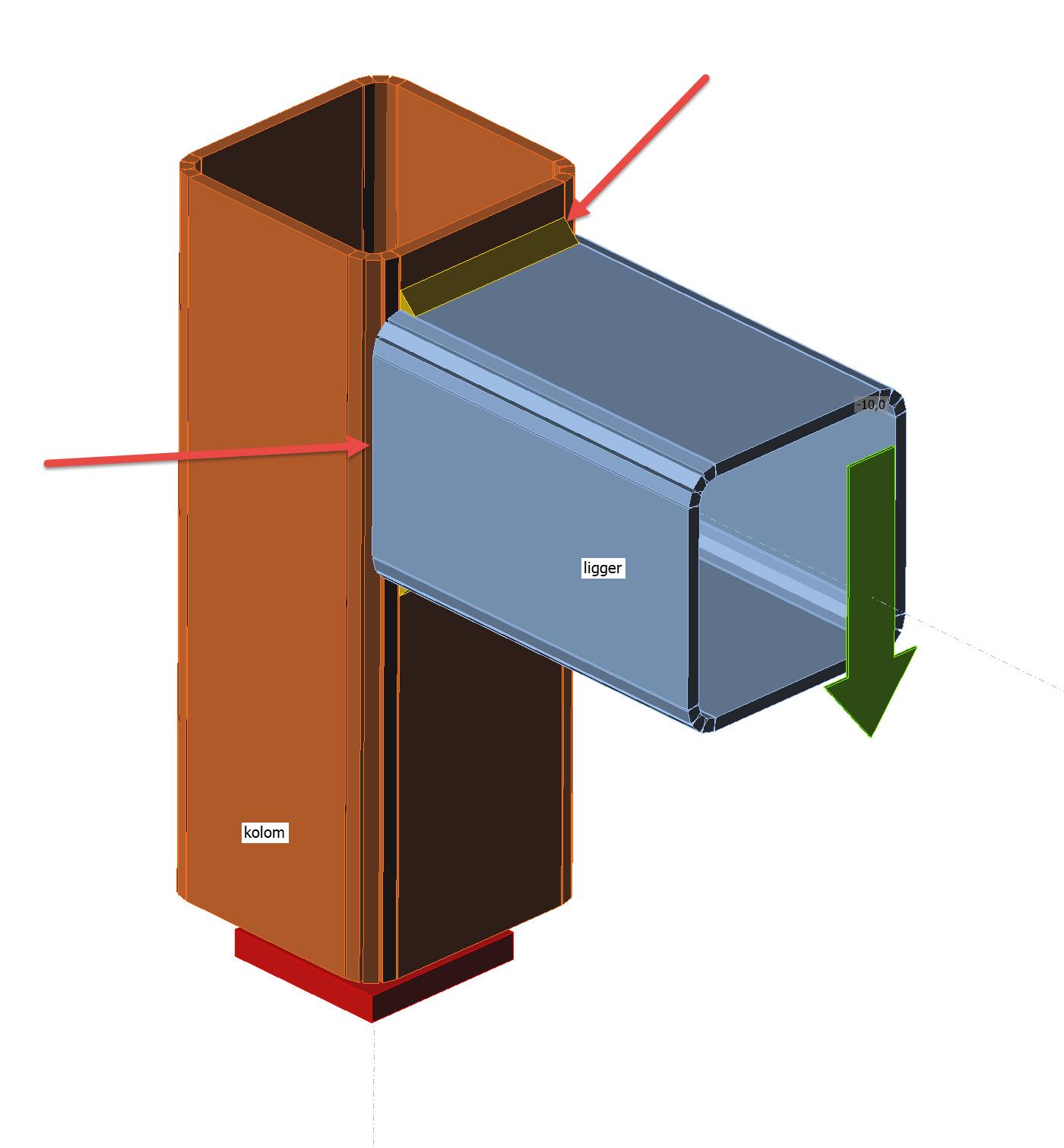 vierkante kokers lassen in IDEA Connection
