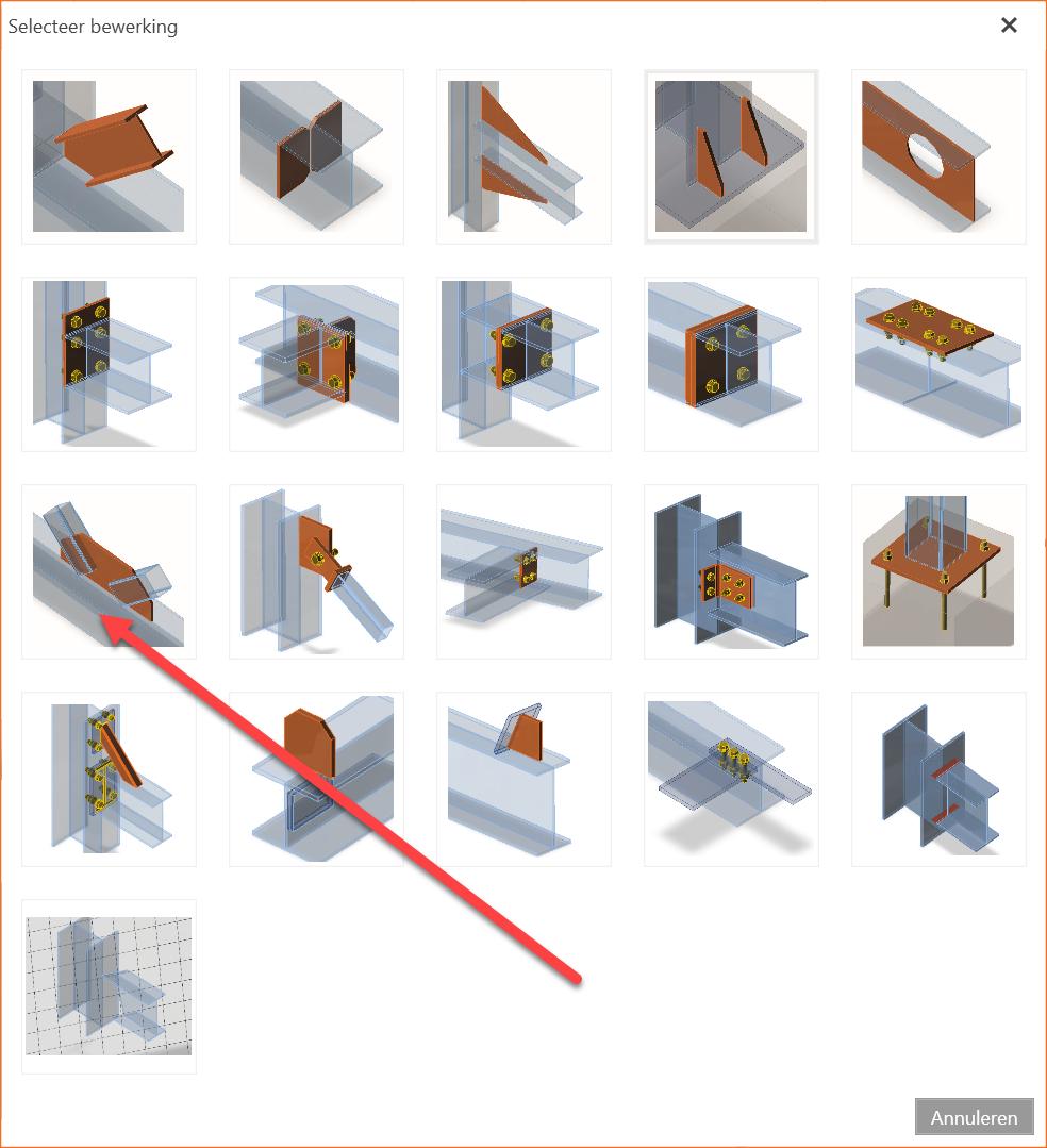 Solid staaf Schetsplaat en vakwerkverbinding in IDEA StatiCa connection