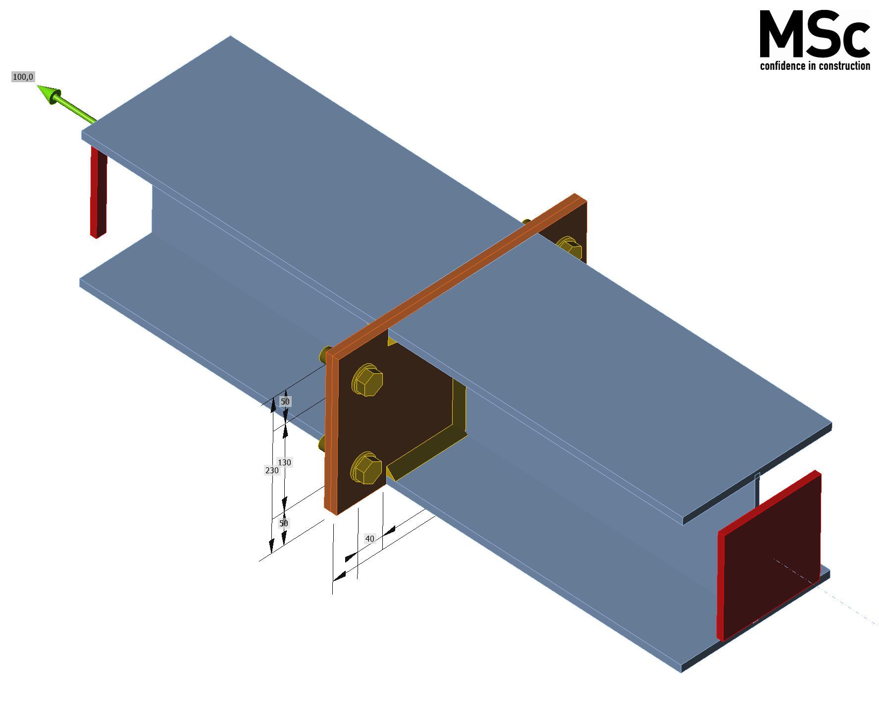 koppelplaat verbinding  modelleren