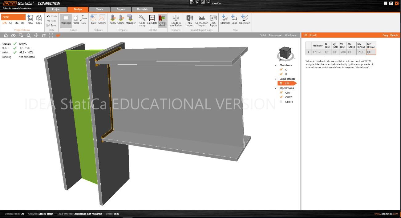 studenten licentie staalverbindingen 3D programma