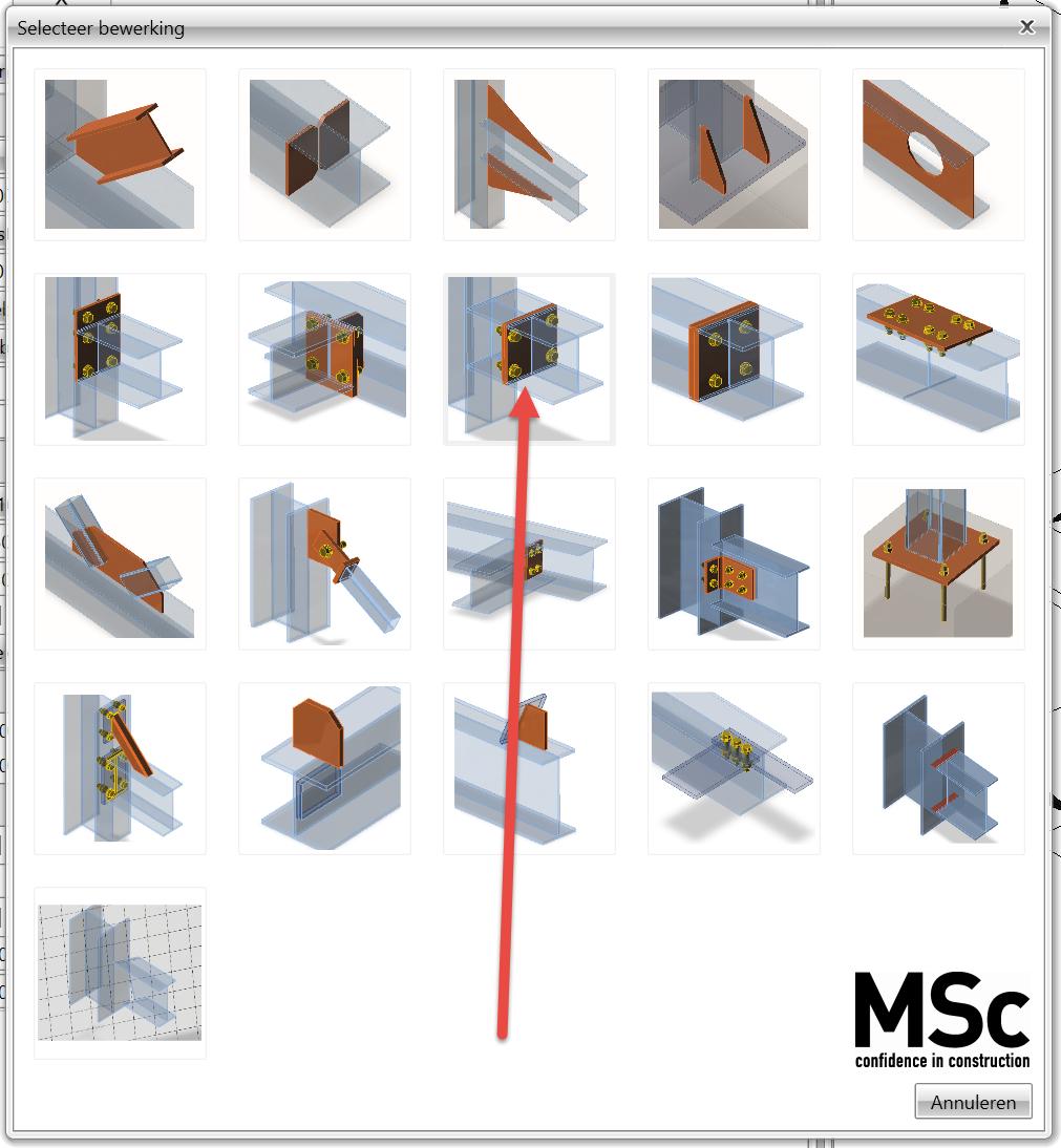 stuikverbinding modelleren