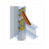 verstijvende staaf in verbinding in IDEA Connection