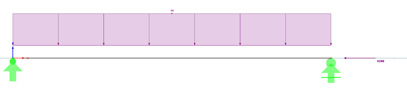Imperfectie als belastinggeval met Normaalkracht berekenen rekensoftware RFEM
