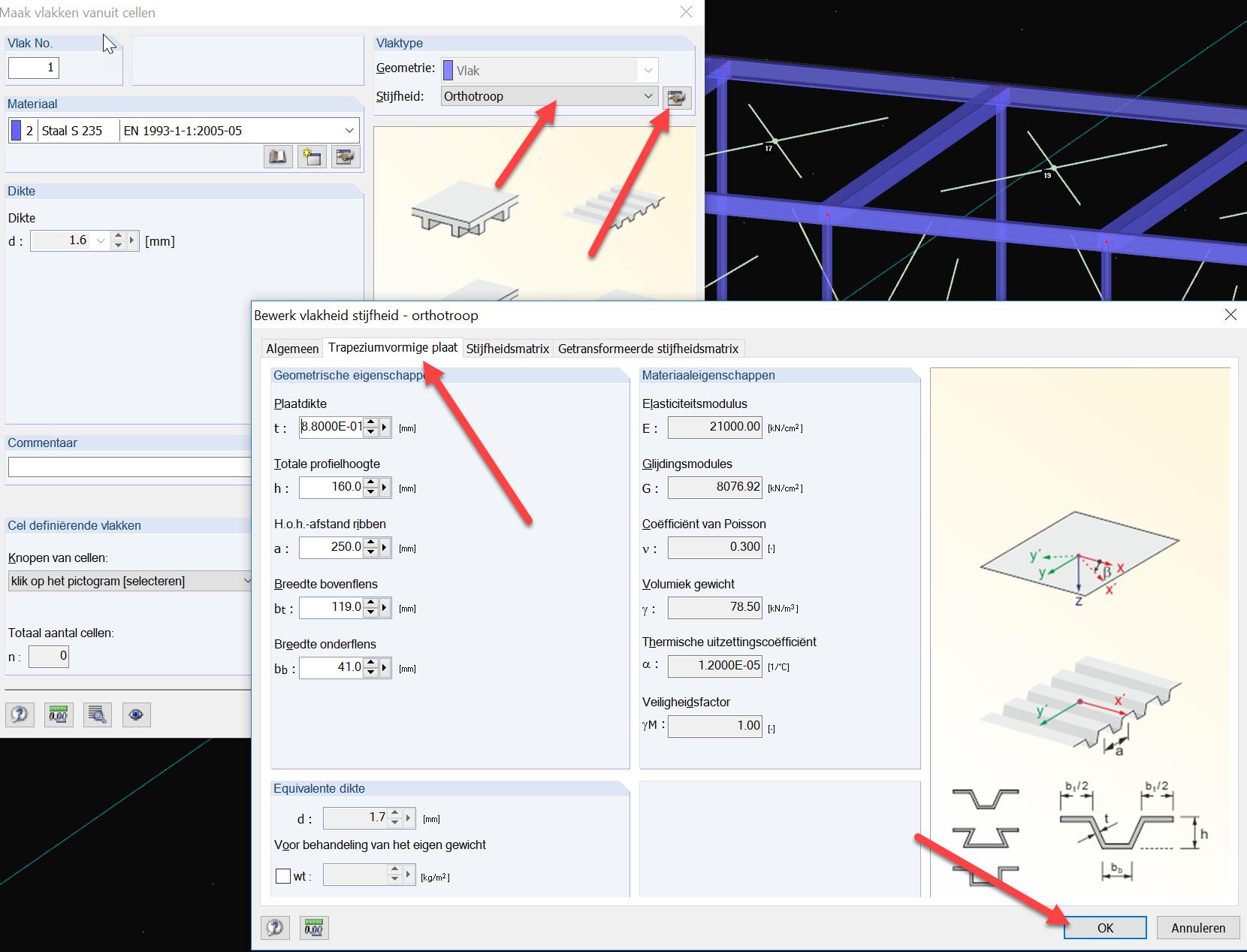 3D Container vlakken genereren van 3D cel in RFEM rekensoftware