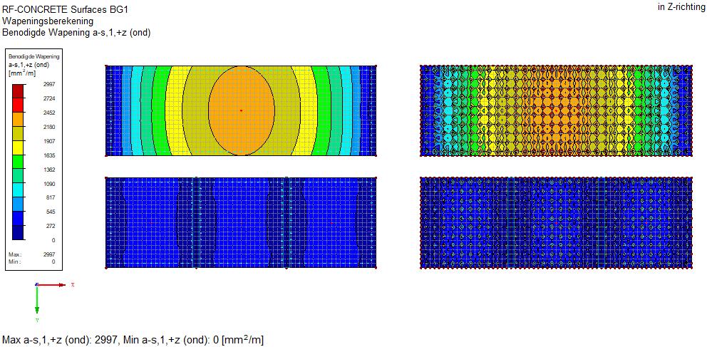 RF-CONCRETE surfaces krimpwapening vloerwapening krimp benodige wapening RFEM