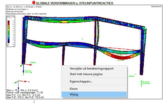 Plaatjes aanpassen in berekeningsrapport in RFEM