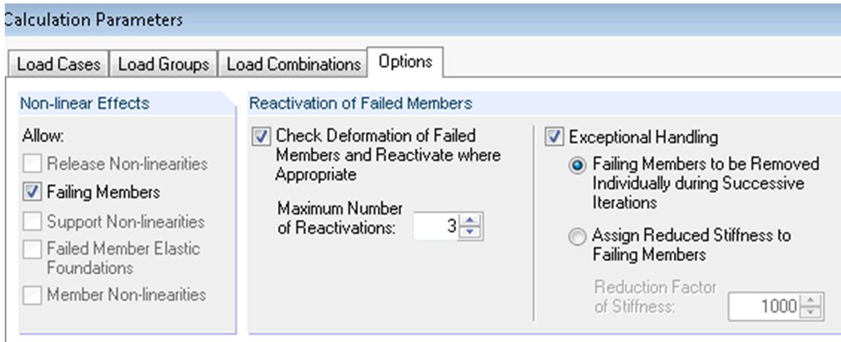 Berekenings parameters falende staven stijfheidsmatrix instabiele modellen in rekensoftware RFEM