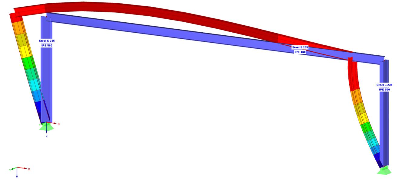Kniklengte knikvorm resultaten in RFEM rekensoftware