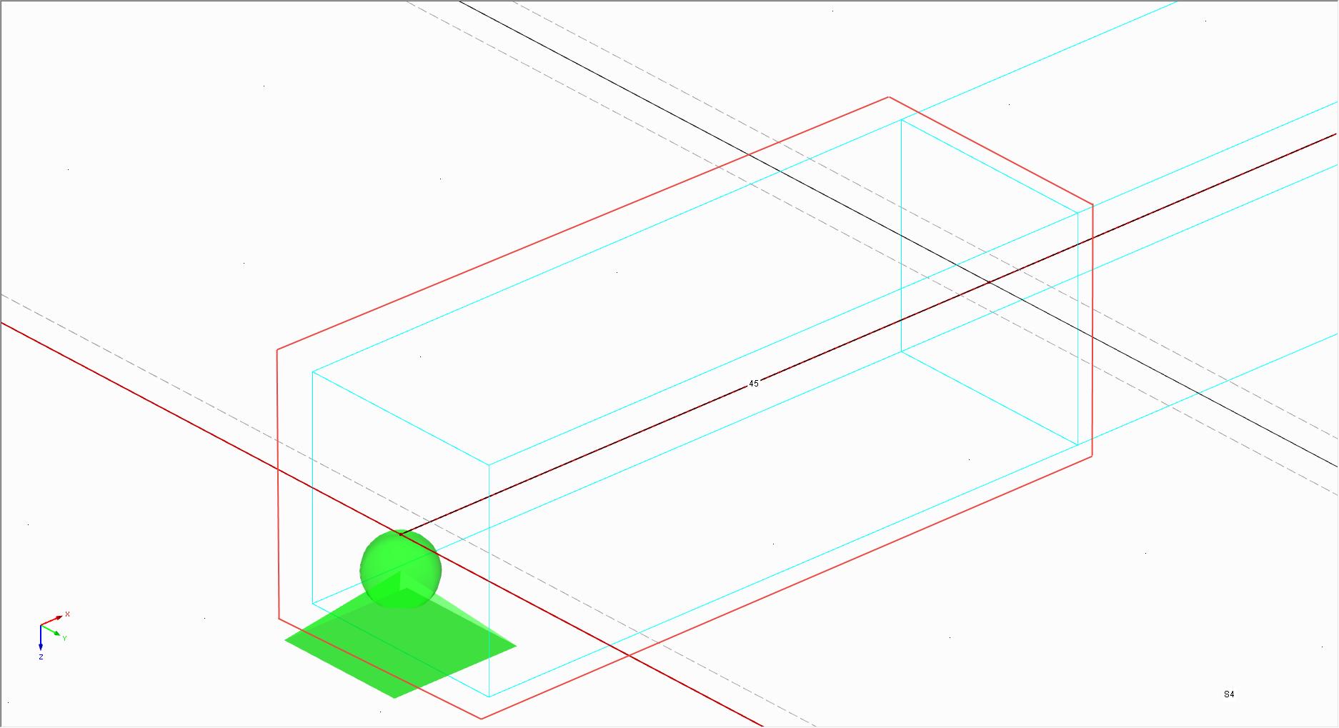 Lijnvrijgave grafische weergave in RFEM