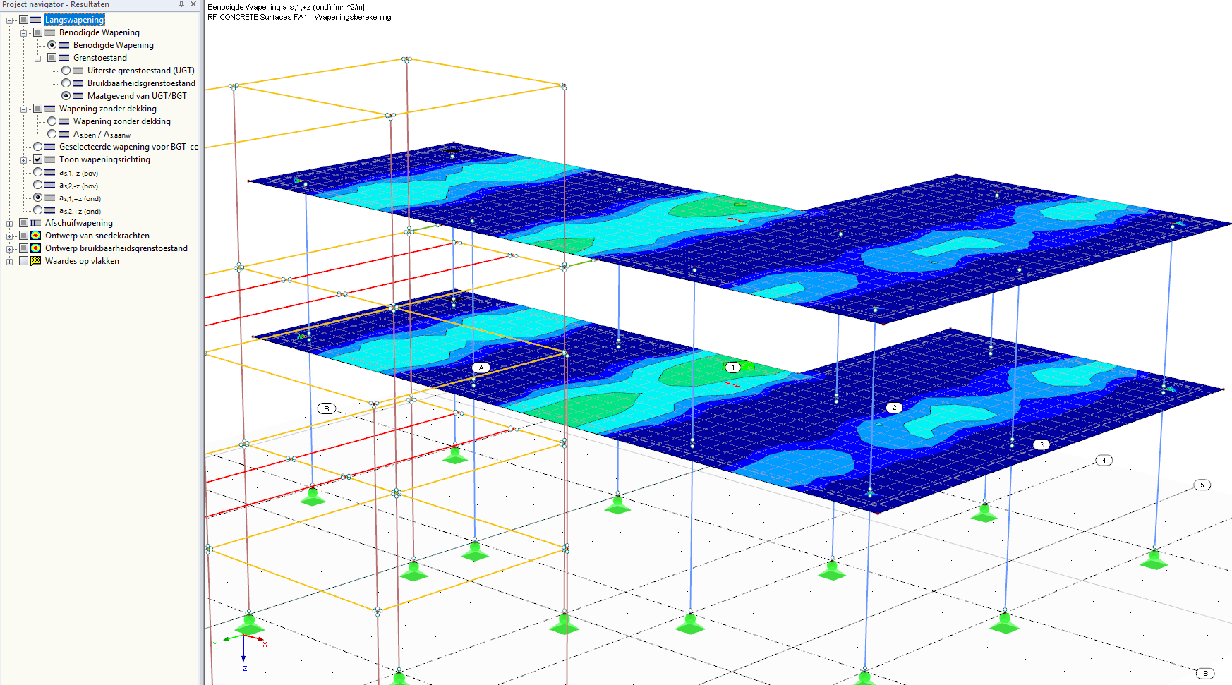 Wapening berekenen in RFEM rekensoftware met RF-CONCRETE surfaces