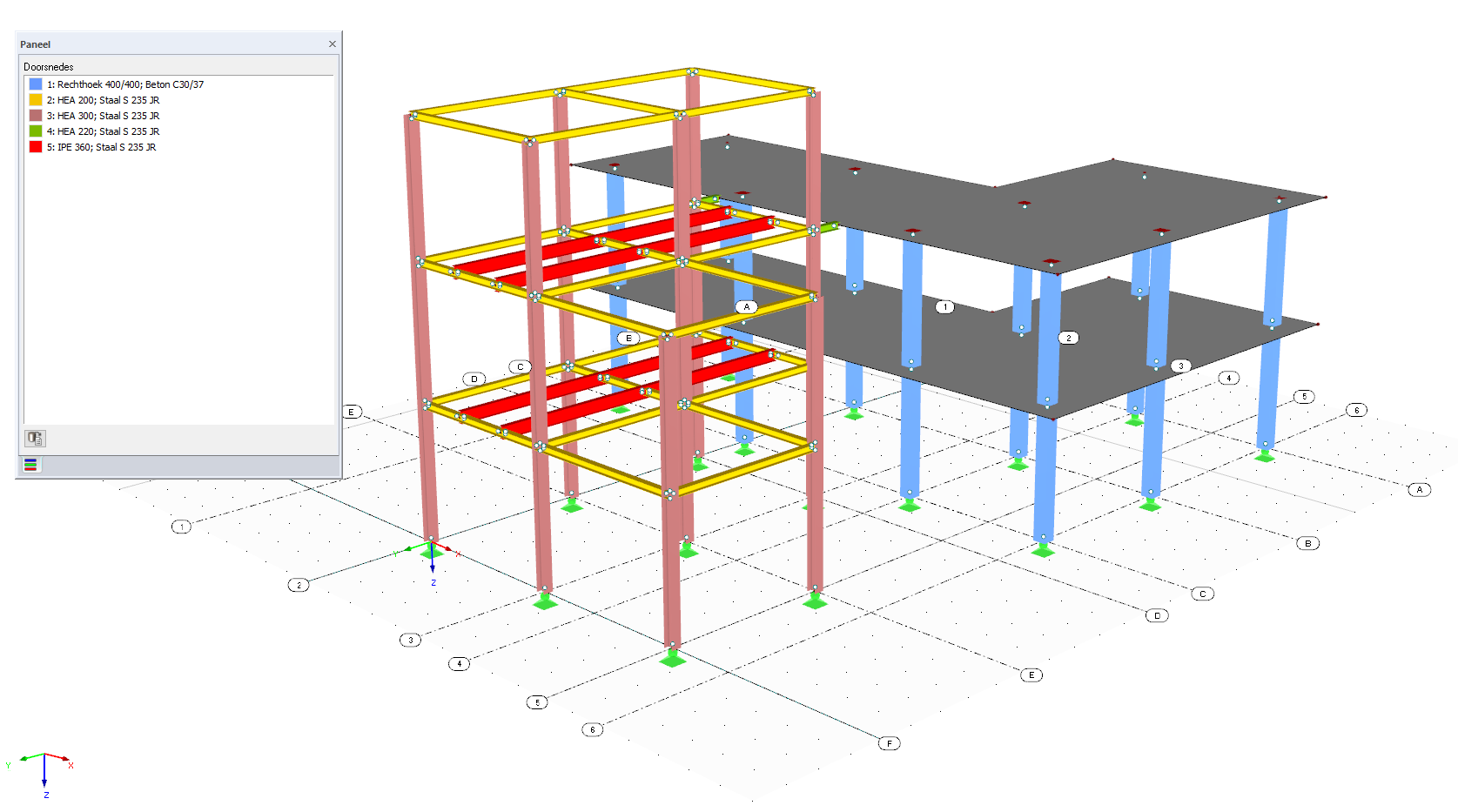 REVIT CAD model zichtbaar in RFEM rekensoftware