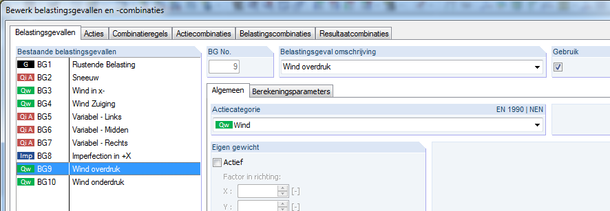 Windbelastingen maken in RFEM