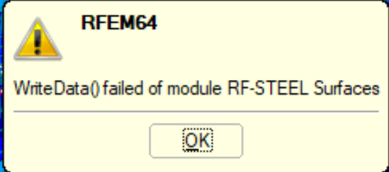 WriteData() failed of module