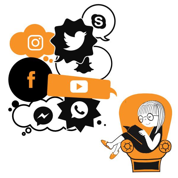 Weniger Social Media, mehr Bücher
