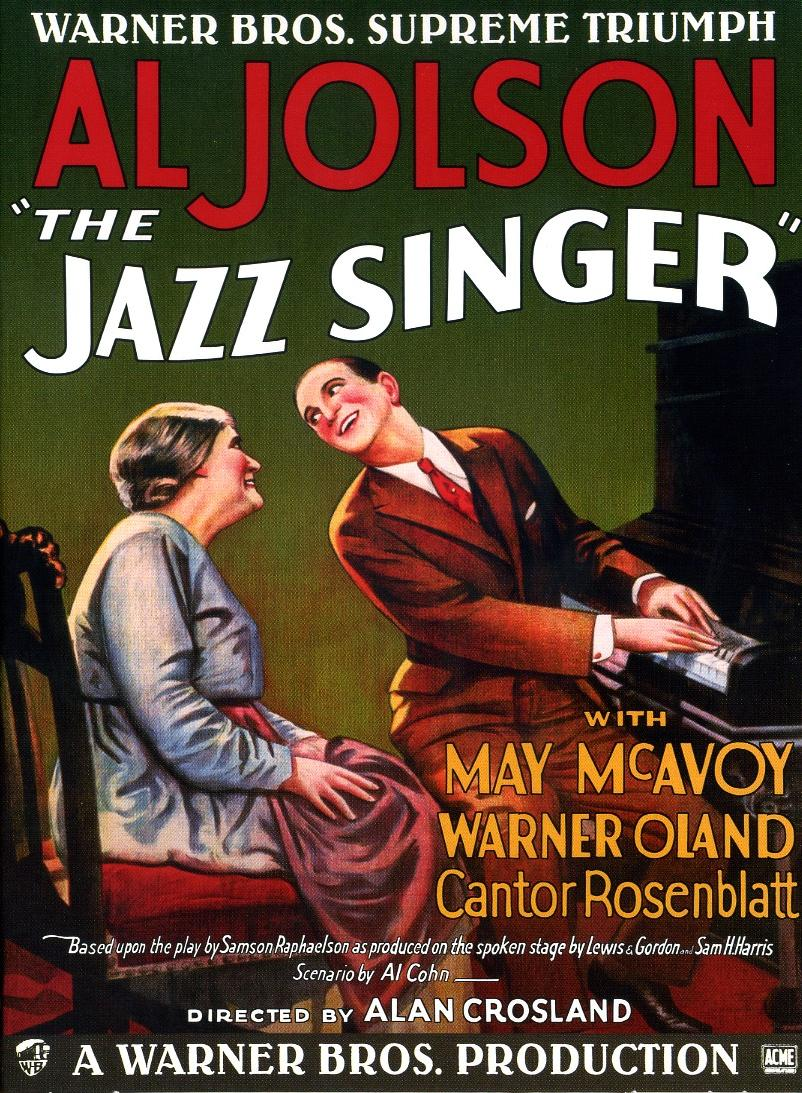 The Jazz Singer - Filmplakat von 1927