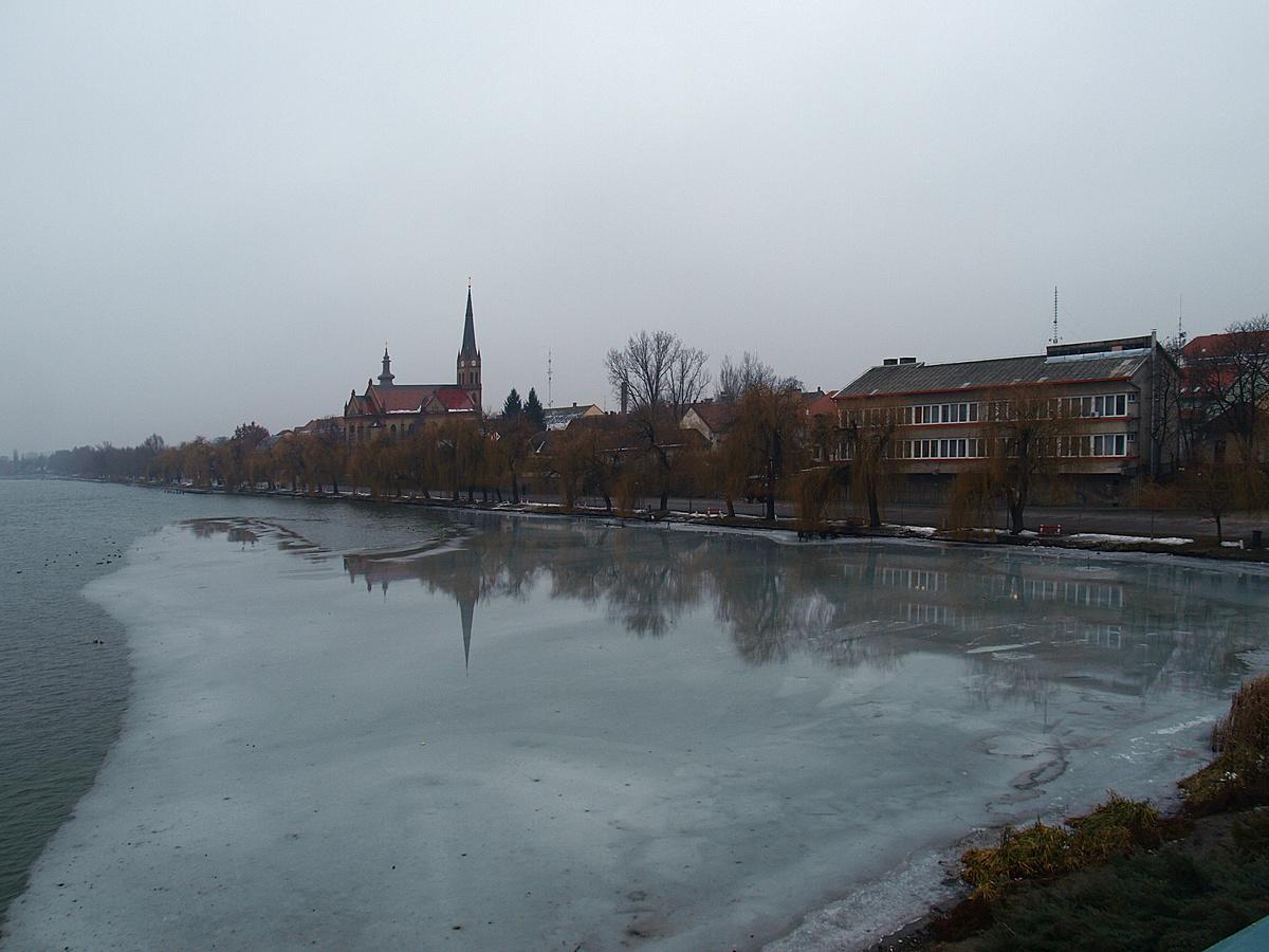 Téli reggel Ráckevén