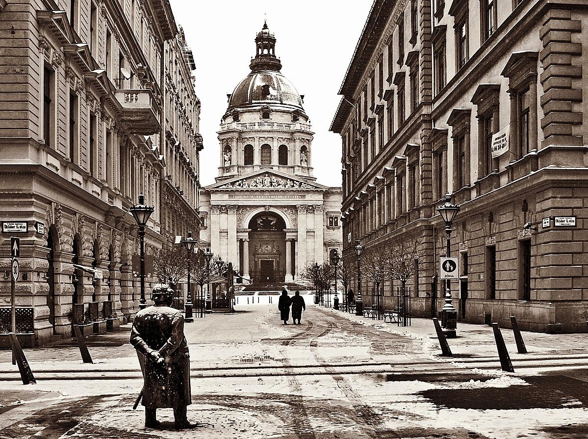 Az utca télen...