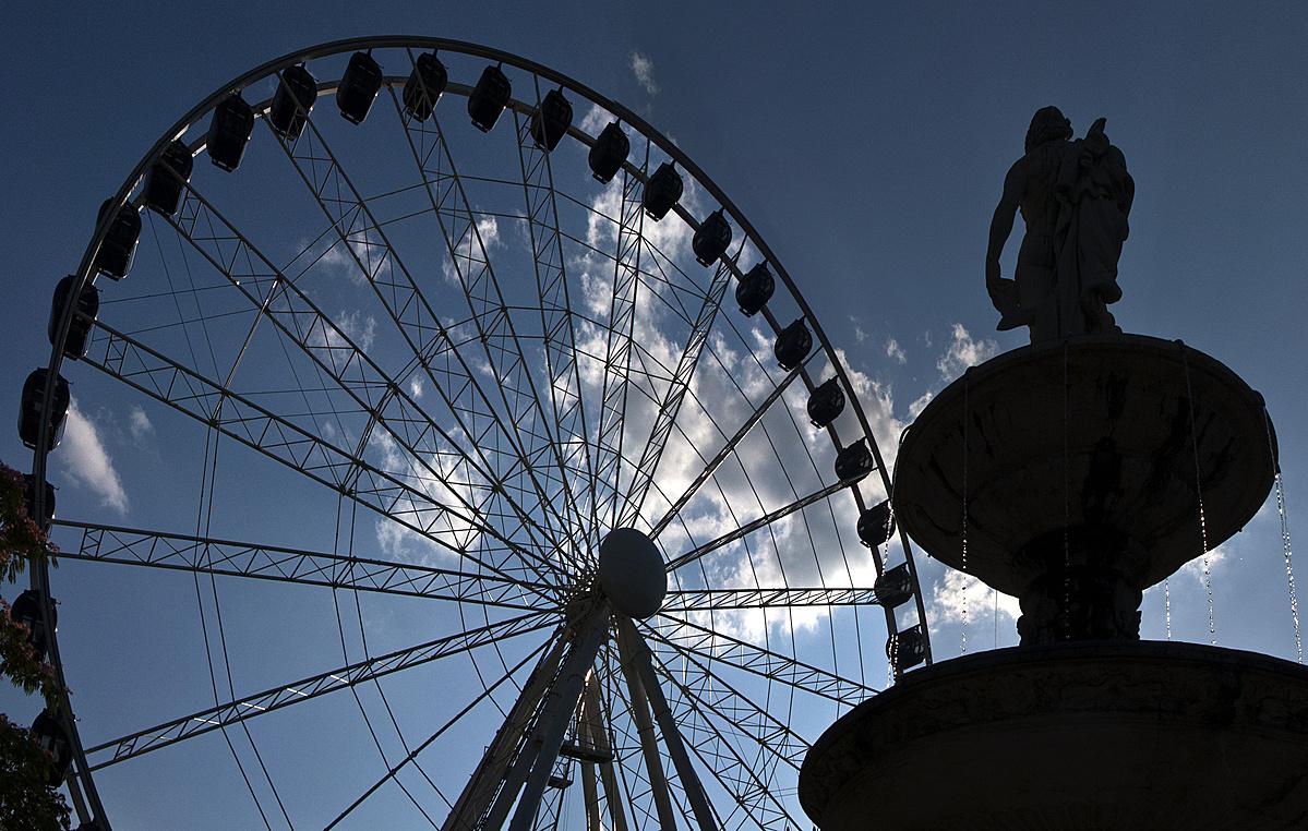 Nyári attrakció: Óriás ventilátor az Erzsébet téren