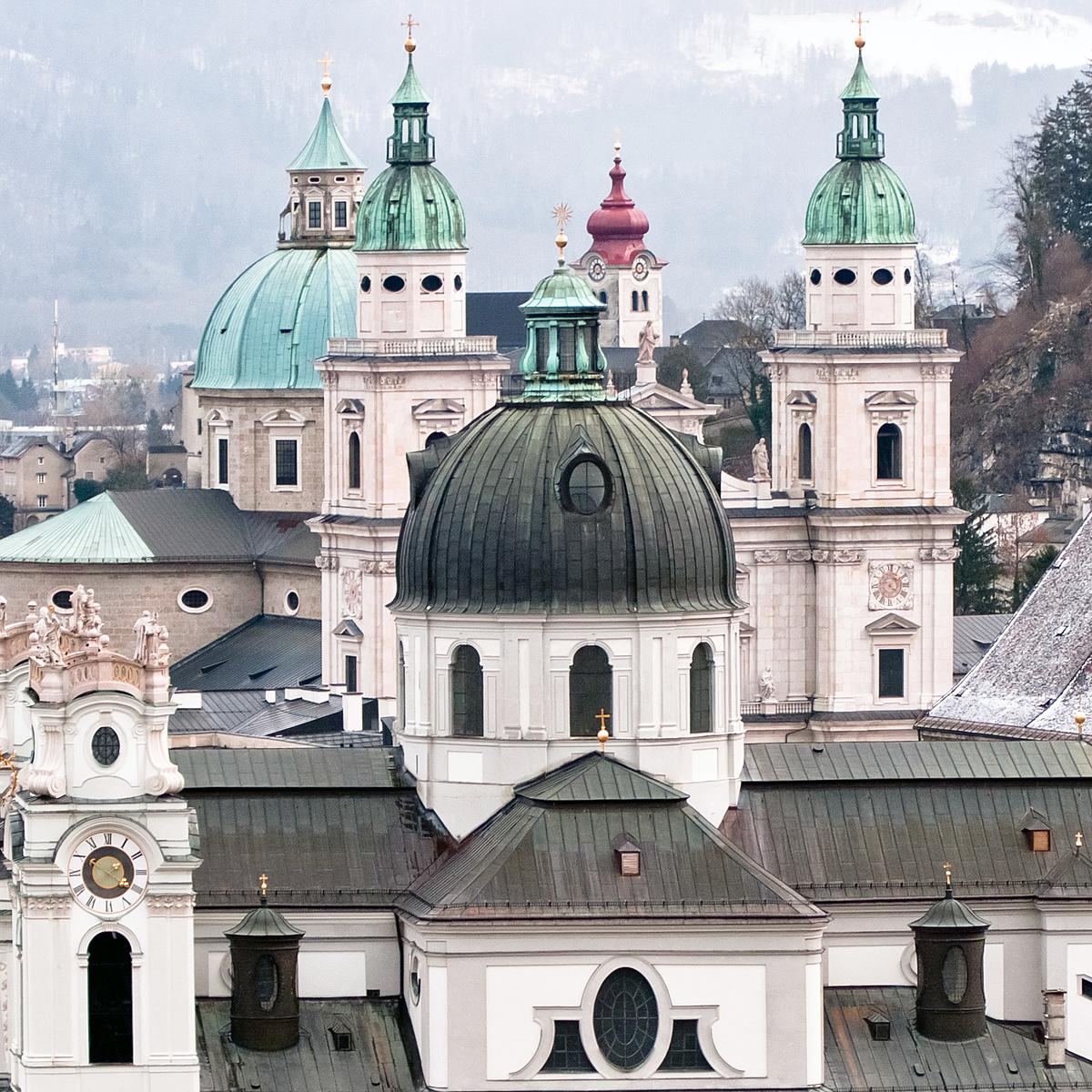 Salzburg pompás tornyai