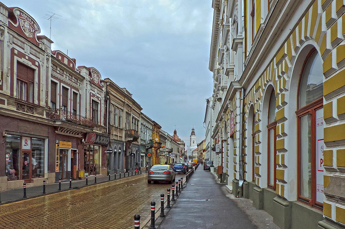 Esős utcakép