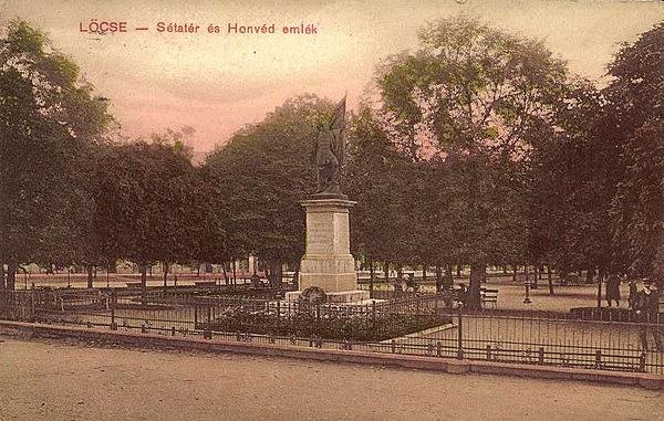 Honvéd emlékmű (ma: Štúr szobor) talapzata