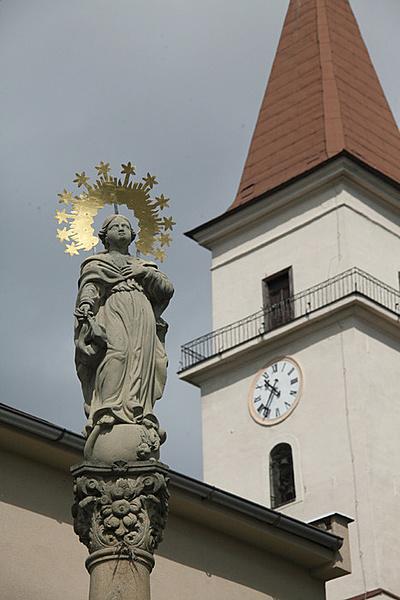 Szeplőtelen Szűz Mária oszlop