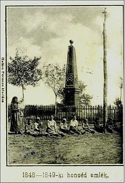 Az 1849-es hegyesi csata emlékműve