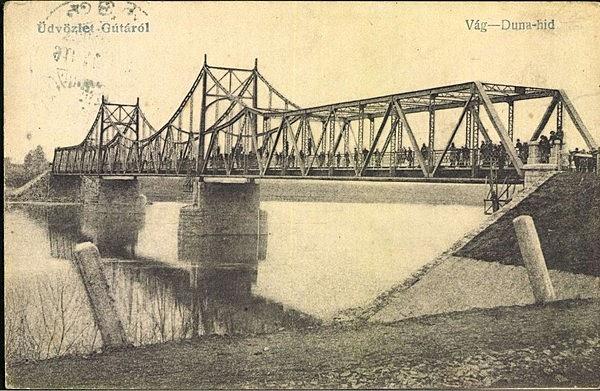 Régi Vágduna híd maradványai