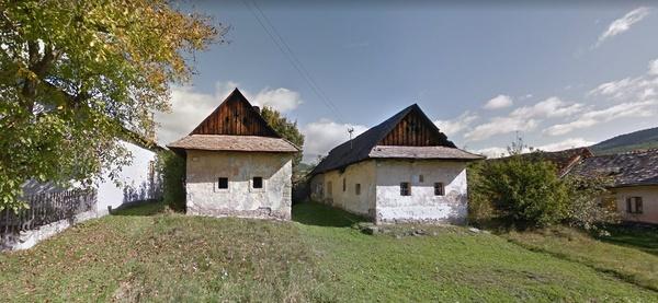 Népi házak sora