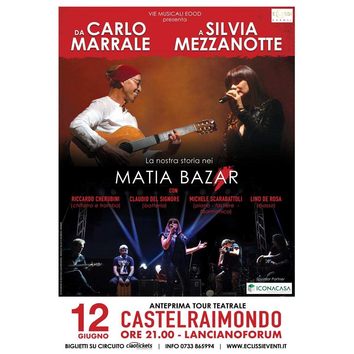 Silvia Mezzanotte e Carlo Marrale insieme per un tour locandina 12-06-2021