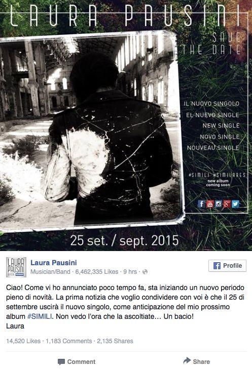 Laura Pausini-Facebook
