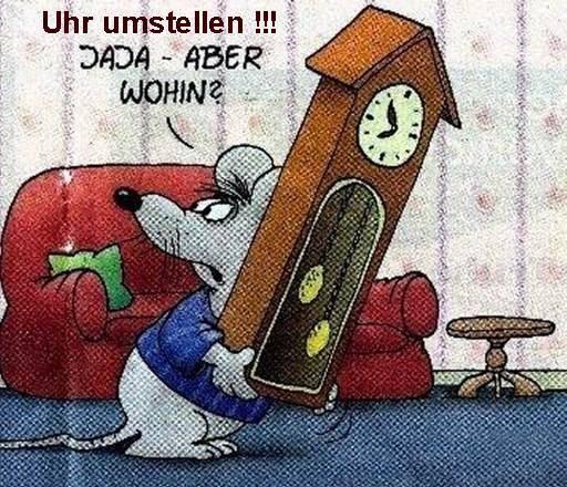 Uhr Umstellen Witzig