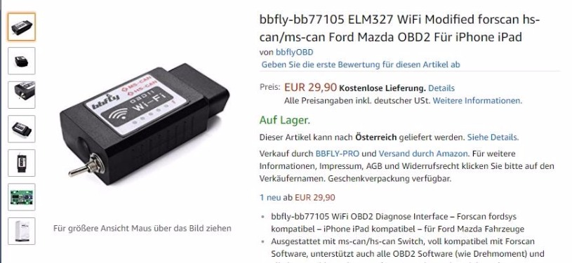 OBD Adapter - Seite 3 - Mustang 6 Forum (2015-2019)