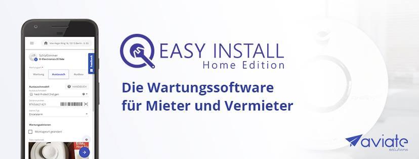 EasyInstall Home ist die Wartungsapp für Mieter und Vermieter
