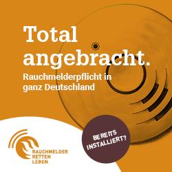 Total angebracht. Rauchmelderpflicht in ganz Deutschland