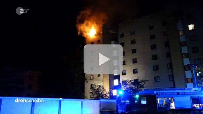 """Das ZDF berichtet über """"Brandschutz und Fluchtwege""""."""
