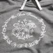 Lion hoodie grey