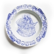 Pizza & Mary porcelain plate
