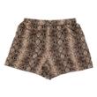 Snake silk shorts