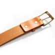 Devil leather belt cognac